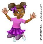 a happy girl kid child cartoon...   Shutterstock . vector #2001876194