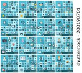 large icons set. vector... | Shutterstock .eps vector #200190701