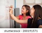 cute high school friends... | Shutterstock . vector #200191571