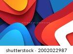 abstract modern papercut... | Shutterstock .eps vector #2002022987