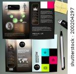 brochure design | Shutterstock .eps vector #200204297