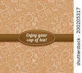 tea and sweets vector...   Shutterstock .eps vector #200205317