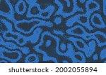 indigo repeat of flowing... | Shutterstock .eps vector #2002055894