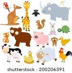 animals set | Shutterstock .eps vector #200206391