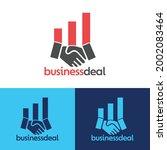 business deal logo  work deal... | Shutterstock .eps vector #2002083464