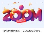 banner with 200m followers... | Shutterstock .eps vector #2002092491