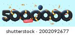 banner with 5000000 followers... | Shutterstock .eps vector #2002092677