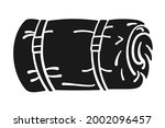 rolled up sleeping bag or bed...   Shutterstock .eps vector #2002096457