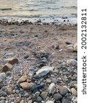 Pebbles Beach And Sand Landscape