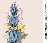 floral botanical design for... | Shutterstock .eps vector #2002144994