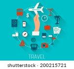 flat design  vector icons set... | Shutterstock .eps vector #200215721