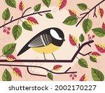 small cute tit bird sitting on...   Shutterstock .eps vector #2002170227