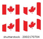 canadian flag in different...   Shutterstock .eps vector #2002170704