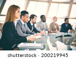 row of business people... | Shutterstock . vector #200219945