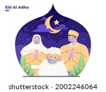 greeting happy eid al adha flat ...   Shutterstock .eps vector #2002246064
