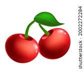 cherry ripe berry  fruit whole... | Shutterstock .eps vector #2002272284