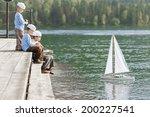 Three Boys Sailor Yacht Model...