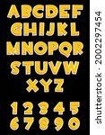 3d orange alphabet and numbers...