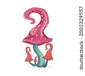 beautiful fantasy mushrooms set.... | Shutterstock .eps vector #2002329557