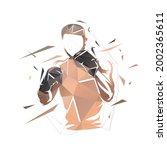 fighter logo  boxing isolated...   Shutterstock .eps vector #2002365611