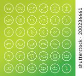 thin line arrow icons set on... | Shutterstock .eps vector #200236661