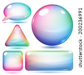 multicolor glass shapes or...