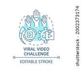 viral video challenge concept... | Shutterstock .eps vector #2002373174