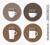 coffee cup icon with   vector... | Shutterstock .eps vector #200238221