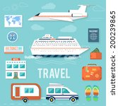 icons set of traveling ... | Shutterstock .eps vector #200239865