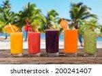 fresh fruit juice  healthy... | Shutterstock . vector #200241407
