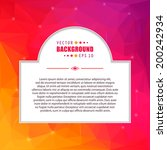 abstract creative concept...   Shutterstock .eps vector #200242934