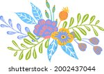 colorful floral flowers... | Shutterstock .eps vector #2002437044