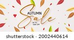 autumn sale with 3d realistic... | Shutterstock .eps vector #2002440614