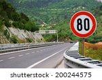 speed limit   80 | Shutterstock . vector #200244575