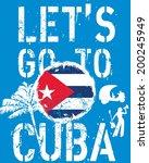 cuba coco palm beach vector art | Shutterstock .eps vector #200245949