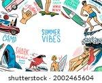surf poster. vintage surfer...   Shutterstock .eps vector #2002465604