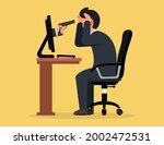 victim of internet cyber crime. ... | Shutterstock .eps vector #2002472531