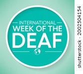 international week of the deaf... | Shutterstock .eps vector #2002504154