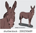Donkey Drawing Beast Of Burden...