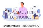 specialist in economics...   Shutterstock .eps vector #2002506977