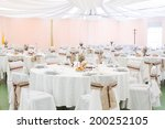 an image of tables setting at a ... | Shutterstock . vector #200252105
