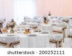 an image of tables setting at a ... | Shutterstock . vector #200252111