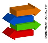 colorful 3d arrows illustration | Shutterstock .eps vector #200252549