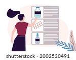 girl chooses medicines in... | Shutterstock .eps vector #2002530491