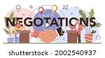 international negotiations...   Shutterstock .eps vector #2002540937