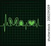 heartbeat make easter symbol... | Shutterstock .eps vector #200259209