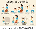 autism signs infographic for... | Shutterstock .eps vector #2002640081