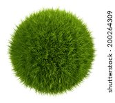 3d Grass Ball  Isolated Object