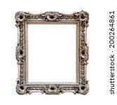 antique silver baroque frame ... | Shutterstock . vector #200264861