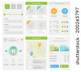 flat mobile ui design. set of...